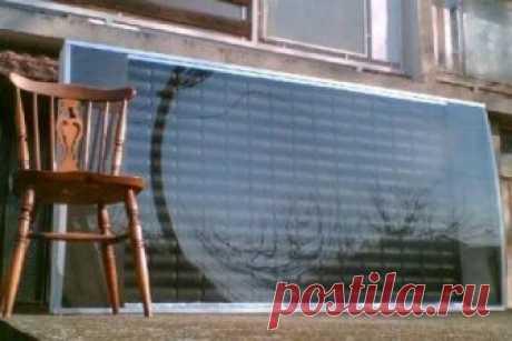 Солнечный коллектор из алюминиевых банок за 7 шагов Это невероятно простой и недорогой солнечный коллектор для дополнительного отопления дома, который нагревает воздух напрямую. Самое интересное, что солнечная панель почти полностью выполнена из пустых алюминиевых банок! Корпус для солнечного коллектора выполнен из дерева (фанера 15 мм), а его...