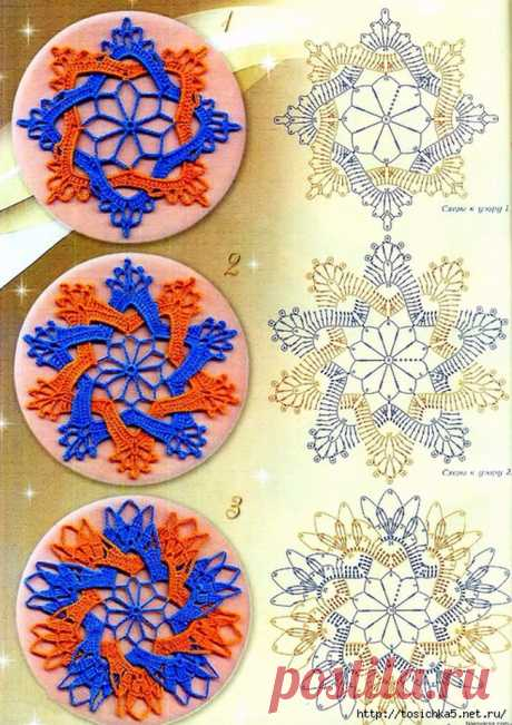 Beautiful two-color patterns. Schemes of knitting.