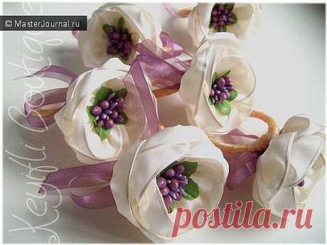 (+1) тема - Красивые и нежные цветы из лент | СВОИМИ РУКАМИ