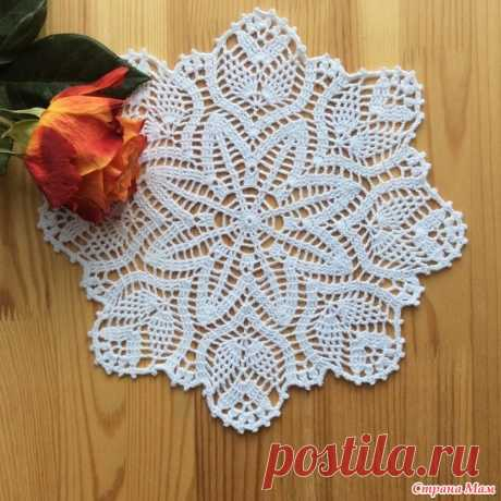 Napkin - All in openwork... (knitting by a hook) - the Country of Mothers
