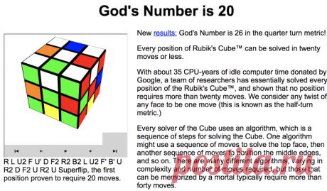 God's Number is 20