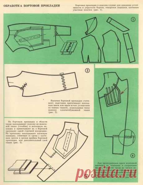 Бесклеевая технология дублирования бортов пиджака