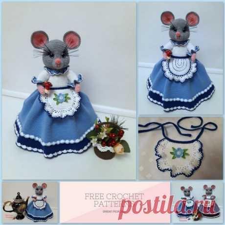 Амигуруми - игрушки с теплом и душой - наш лучший выбор !!! .................Мышка........................ Ела мышка хлеб и сало, Но все мышке было мало ..