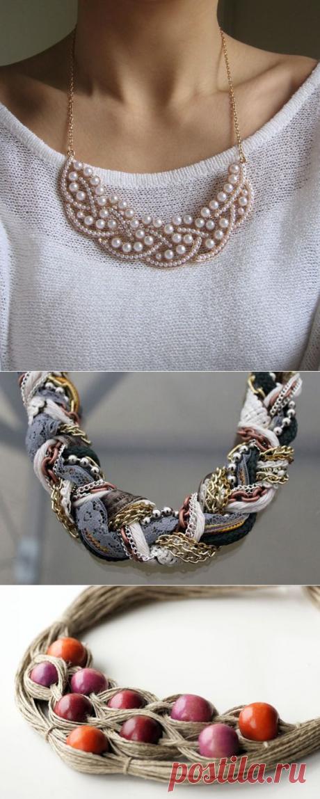 100 самых красивых идей: ожерелье и колье своими руками на фото