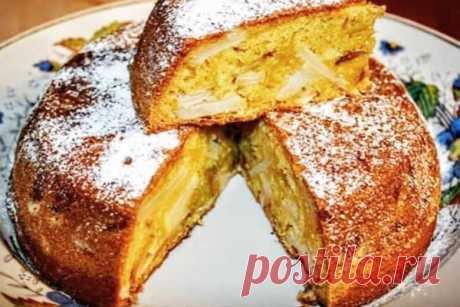 Рецепт шарлотки с яблоками на кефире