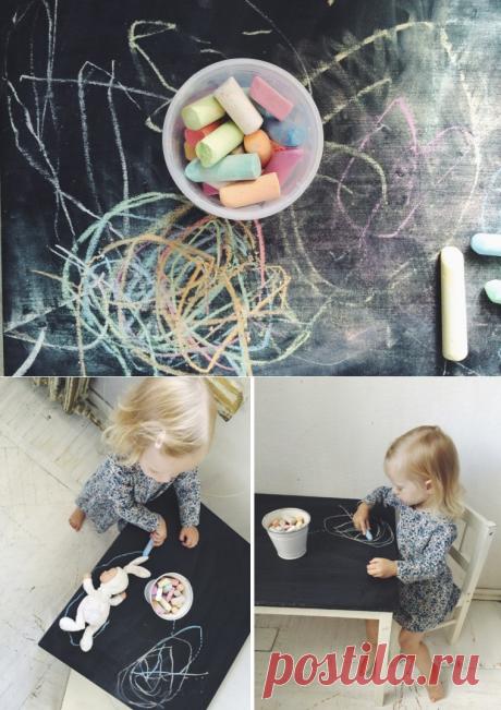DIY: стол для детской, на котором можно рисовать | Sunniest.ru