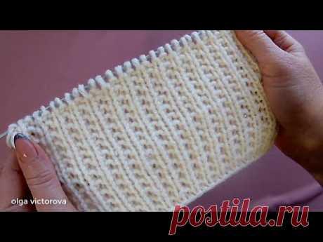Простой Узор в стиле кэжуал-шик для свитера, джемпера, кардигана.  705 Узоры спицами