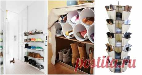 Практичные способы хранения обуви: стильно и без потери пространства ...