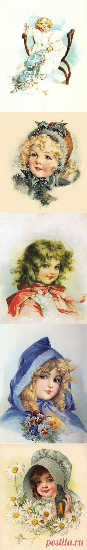Очаровательные девочки / Картинки для декупажа / PassionForum - мастер-классы по рукоделию