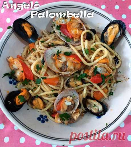 Spaghetti con le cozze. Спагетти с мидиями. Италия. Buon appetito!   ИТАЛЬЯНСКИЕ РЕЦЕПТЫ   Яндекс Дзен