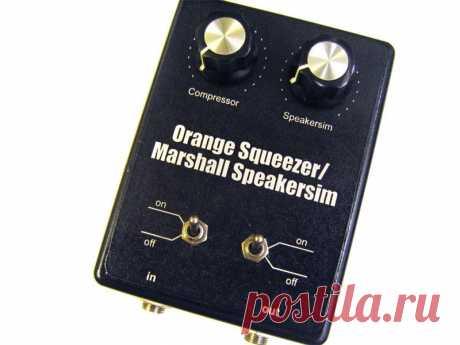 Гитарная педаль 2 в 1: Marshall Speakersim + Orange Squeezer Приветствую всех зашедших! Гитарных примочек никогда не бывает много - даже если их и так уже стоит целая коллекция, всегда хочется ещё и ещё, чтобы попробовать несколько новых вариаций звука привычного инструмента. Покупать большое количество примочек в магазинах может быть накладно в финансовом