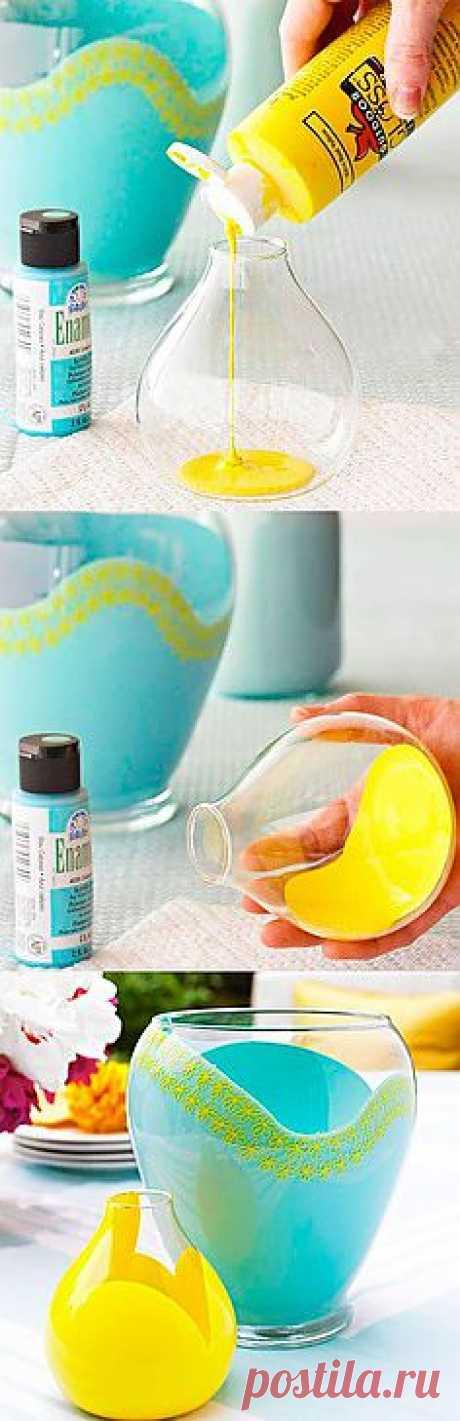 Декор стеклянных ваз | Дом-Цветник