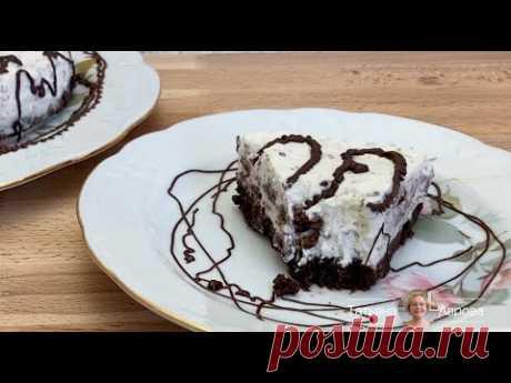 Тортик из шоколадного печенья без выпечки