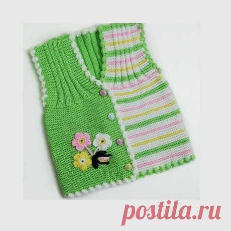Жилетка спицами для малышей. Справится даже начинающий. | Блог про вязание | Яндекс Дзен