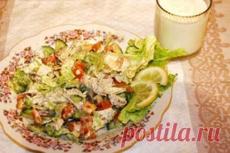 Салат с пекинской капустой / Богатая добыча