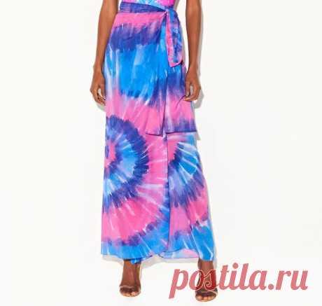 Выкройка длинной юбки с запахом Модная одежда и дизайн интерьера своими руками