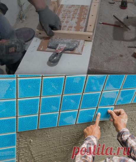 Самодельное приспособление, которое в два раза ускорит и упростит укладку плитки