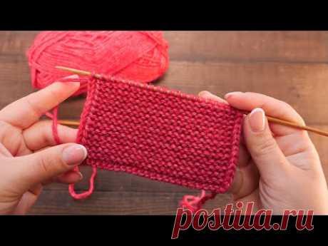 Уплотненная кромка спицами 🤗 Knitting neat edges 🌶