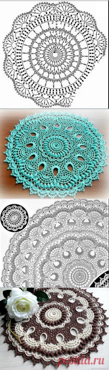 Как связать красивую салфетку крючком — Красивое вязание