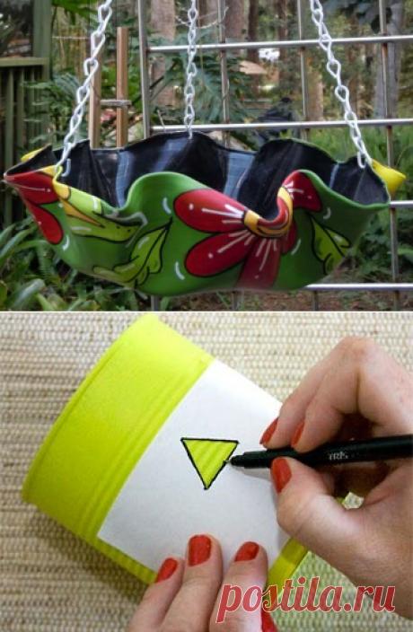 Декоративные кашпо своими руками для сада: лучшие варианты