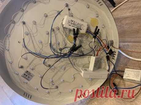 Светодиодная люстра с пультом управления. Диагностика и ремонт