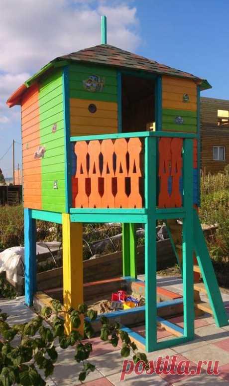 Домик для ребенка на даче — Сделай сам