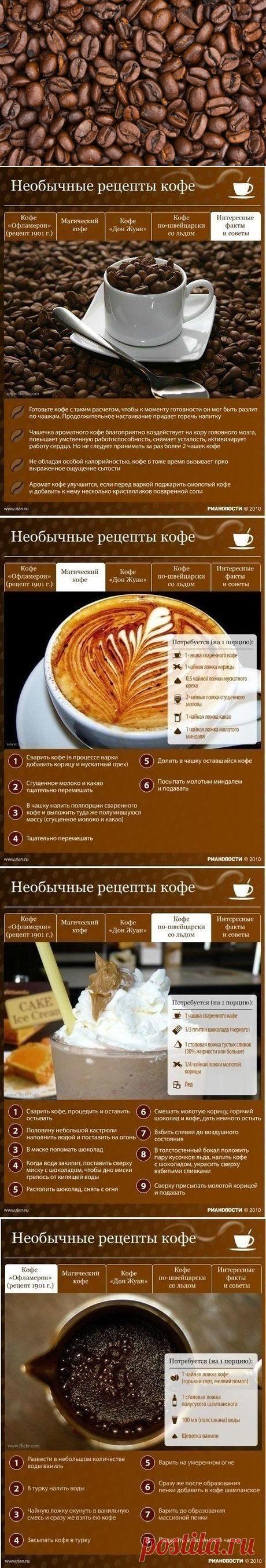5 рецептов необычных кофейных напитков. Очень ароматно!