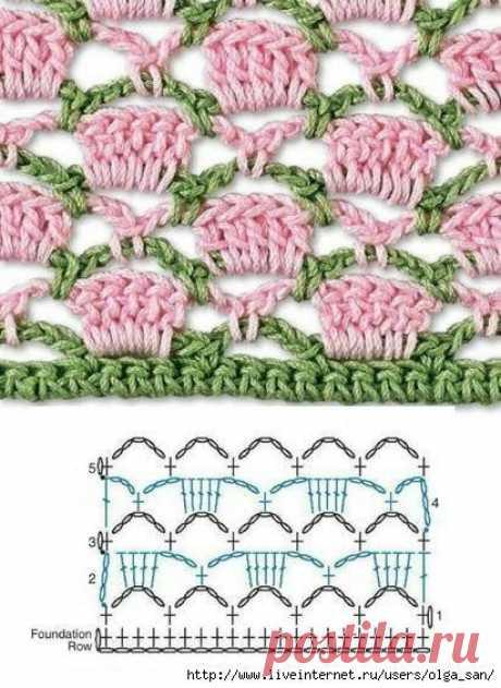 Красивые двухцветные узоры (Вязание крючком) – Журнал Вдохновение Рукодельницы