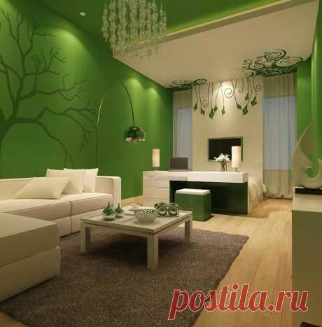 Зеленый цвет в интерьере дома: какие выбрать под него полы и обои, чтобы дизайн был стильным и элегантным узнайте на сайте Волгоград Stone Floor   #зеленыйвинтерьере#зеленыйпалитры#счемсочетатьзеленый#Волгоград#Stonefloor#зеленыйвдизайне