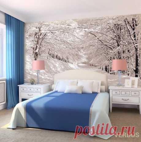 Идея для оформления спальной комнаты