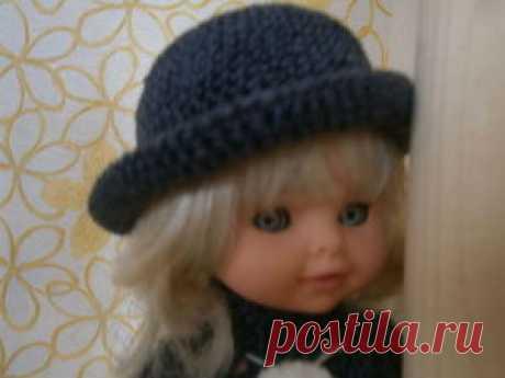 Tejemos por el gancho el sombrero de señora con los campos estrechos - la Feria de los Maestros - la labor a mano, handmade