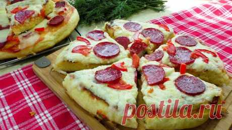 Улётная пицца на сковороде (на дрожжевом тесте)!