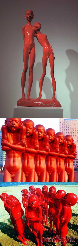 Красные человечики от Chen Wenling (31 фото - 7,12.Mb) » Фото, рисунки