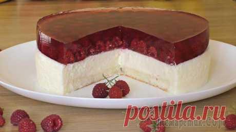 """Муссовый торт """"Сливочно-малиновая нежность"""" Хочу поделится с Вами совершенно не сложным рецептом муссового торта - """"Сливочно-малиновая нежность"""".Название торта говорит само за себя. Муссовый торт получается неимоверно нежным, легким и безумно ..."""