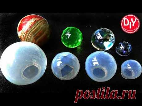 Как сделать формы шара из силикона для эпоксидной смолы, полимерной глины, мыла, торта своими руками - YouTube