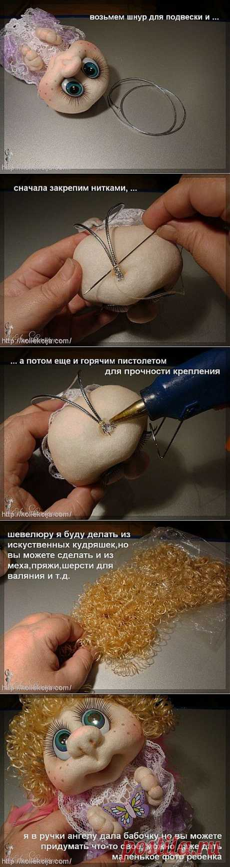 Hair for a doll from tights. Author Elena Lavrentyeva. | the hands