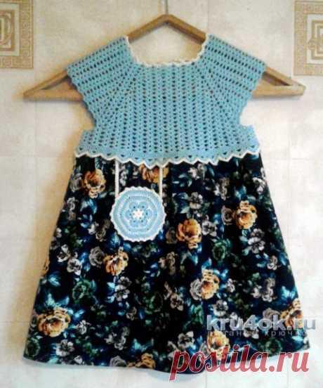 Вязаное платье для девочки. Работа Юлии Ковалевой
