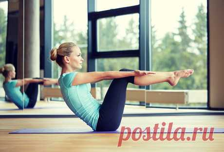 Пилатес: 4 упражнения для укрепления мышц пресса   Краше Всех