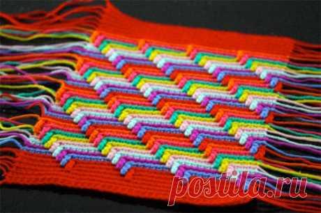 Вязание узора, имитирующего вышивку барджело — Рукоделие