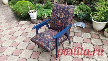 Показываю, как я за 3 копейки преобразила старое советское кресло свекрови. Результат выше всяких похвал | Шебби-Шик | Яндекс Дзен