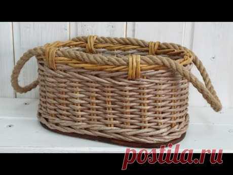 Ручки из джутовой веревки для плетеной корзины