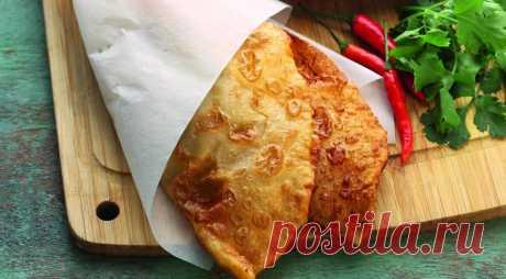 Чебуреки из заварного теста , пошаговый рецепт с фото
