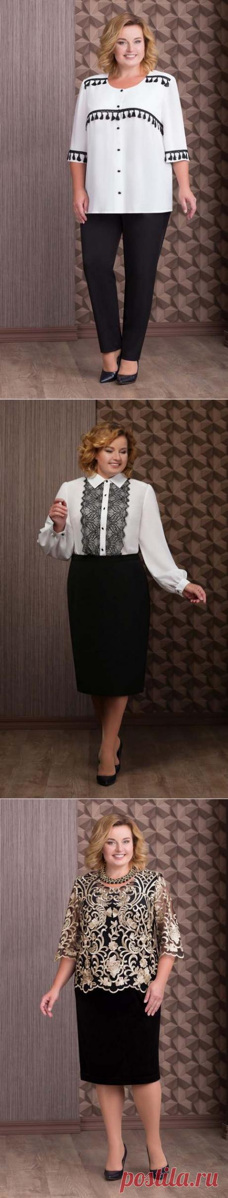 Коллекция шикарной одежды для полных женщин белорусской компании Aira Style осень-зима 2018-2019