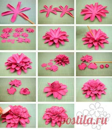 """«""""Как сделать цветок из бумаги своими руками? Шаблоны и схемы» — карточка пользователя никита ш. в Яндекс.Коллекциях"""