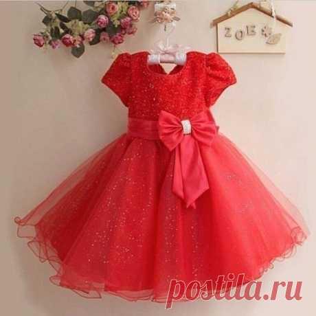 Выкройка детского платья с пышной юбкой.