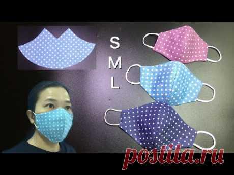 На изготовление этой маски ушло 3 минуты, реально всего 3 минуты - шить новичку слишком просто.
