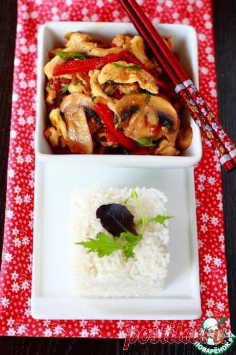 Стир-фрай из курицы с грибами – кулинарный рецепт
