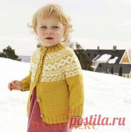 Детский жакет в скандинавском стиле | DAMские PALьчики. ru