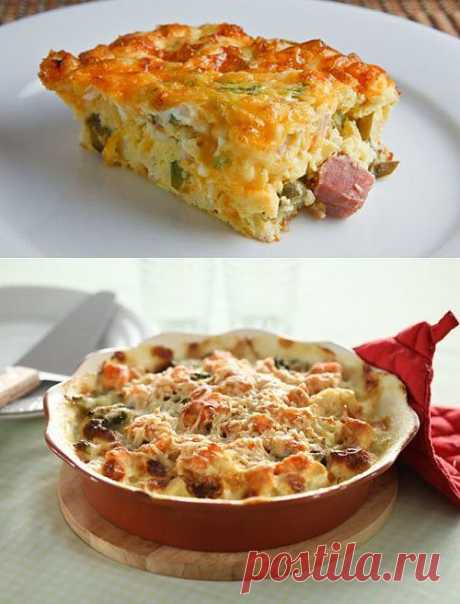 The most interesting baked puddings with meat and vegetables \/ Simple recipes