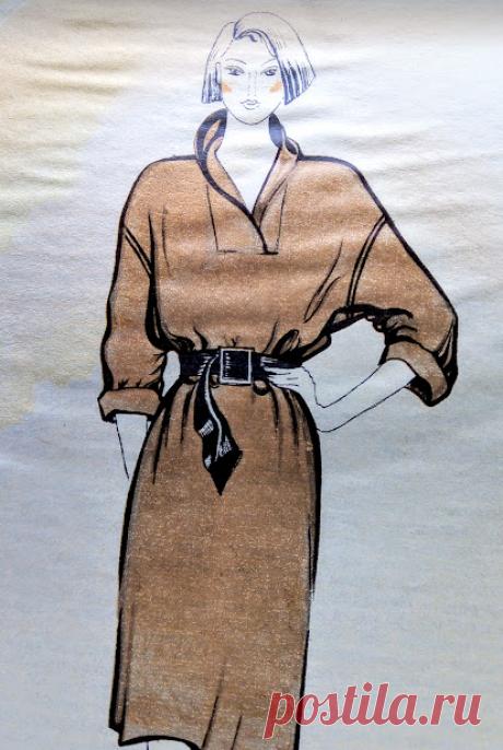 Привет из страны Советов (3). Платье рубашка - чертеж выкройки и описание от модельера - конструктора |